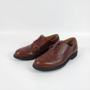 Rockport Wingtip Brown Oxford Tie Shoes Size 10M